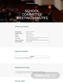 Free School Committee Meeting Minutes Template