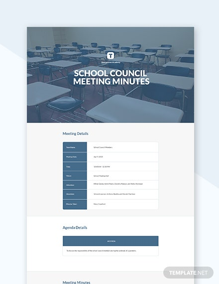 Free School Council Meeting Minutes Template