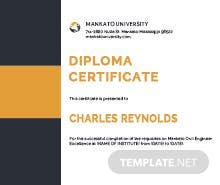 Free sample diploma certificate template in psd ms word publisher free civil diploma certificate template yelopaper Choice Image