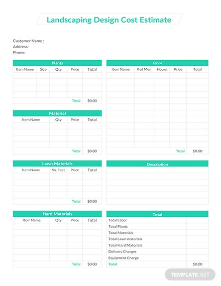 cost estimate template  download 239  sheets in word  excel  pages  numbers  pdf