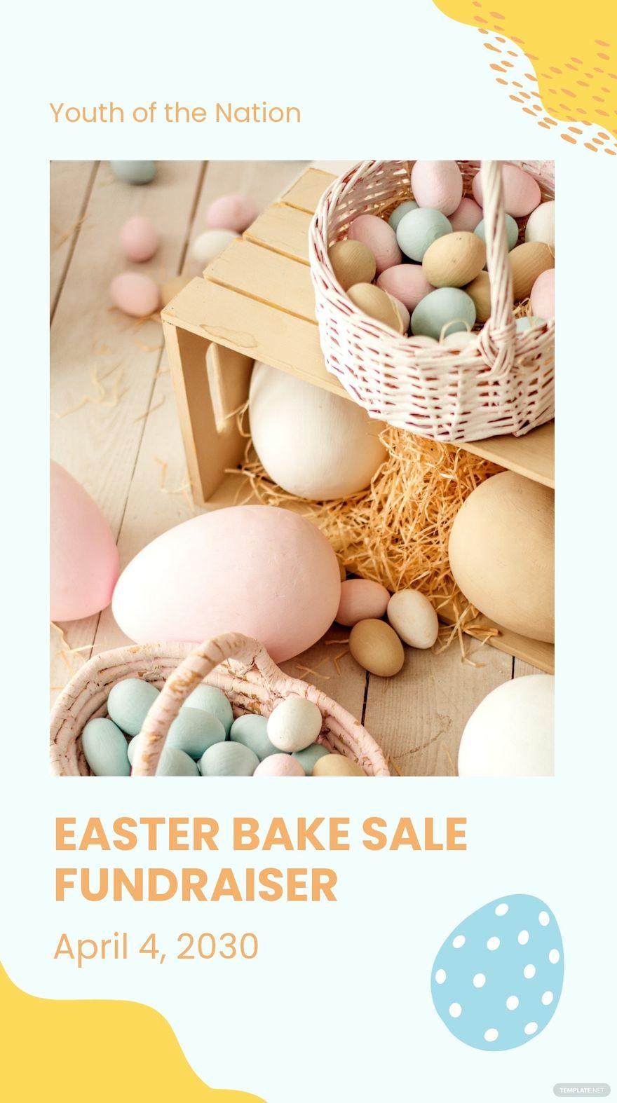 Easter Bake Sale Instagram Story Template.jpe