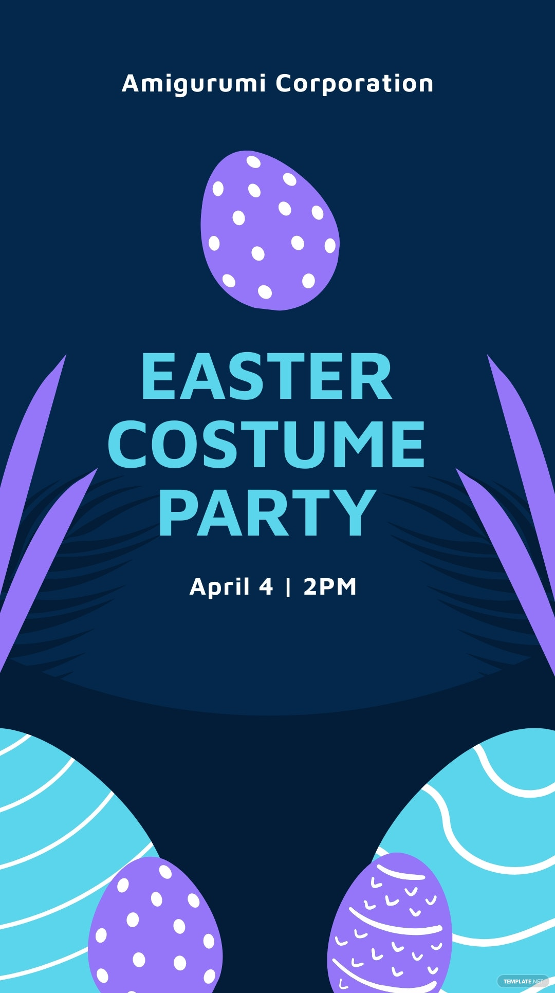 Easter Party Whatsapp Post Template.jpe