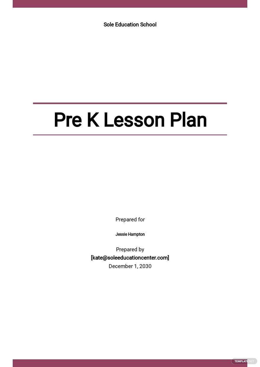 Blank Pre K Lesson Plan Template.jpe