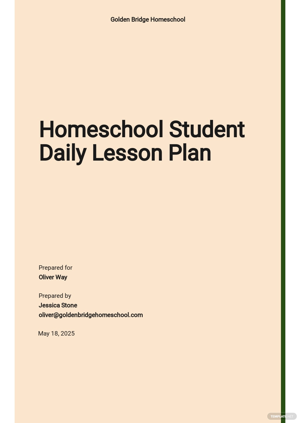 Homeschool Daily Student Lesson Plan Template.jpe