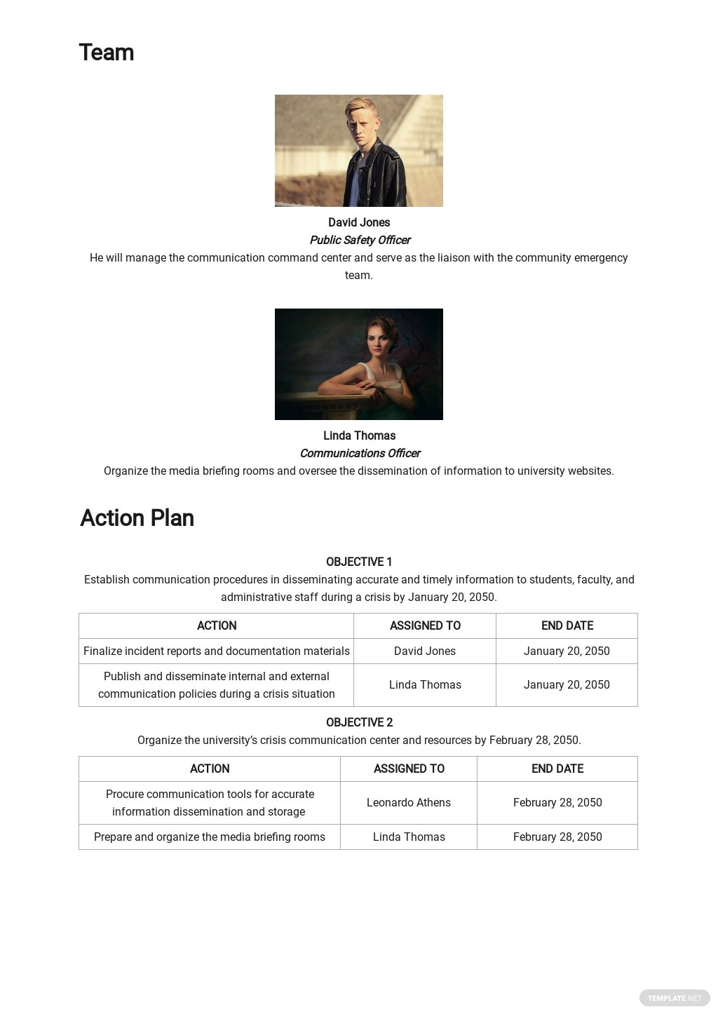 University Crisis Communication Plan Template 2.jpe