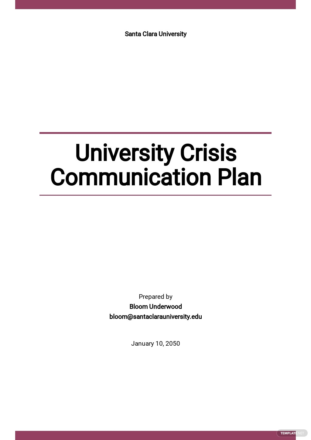 University Crisis Communication Plan Template.jpe