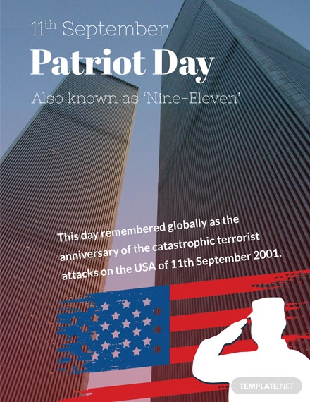 Free Patriot Day Greeting Card Template