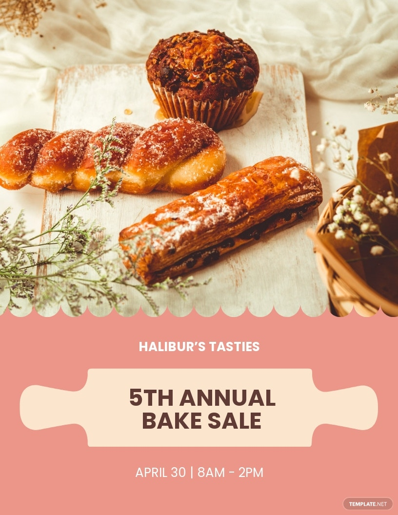 Bake Sale Promotion Flyer Template.jpe
