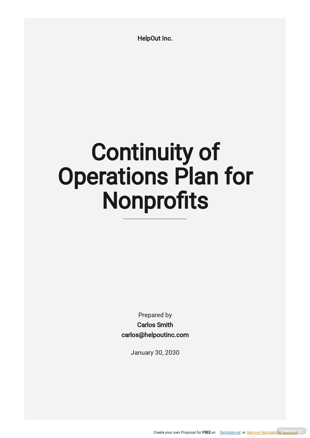 Continuity of Operations Plan for Nonprofits Template.jpe