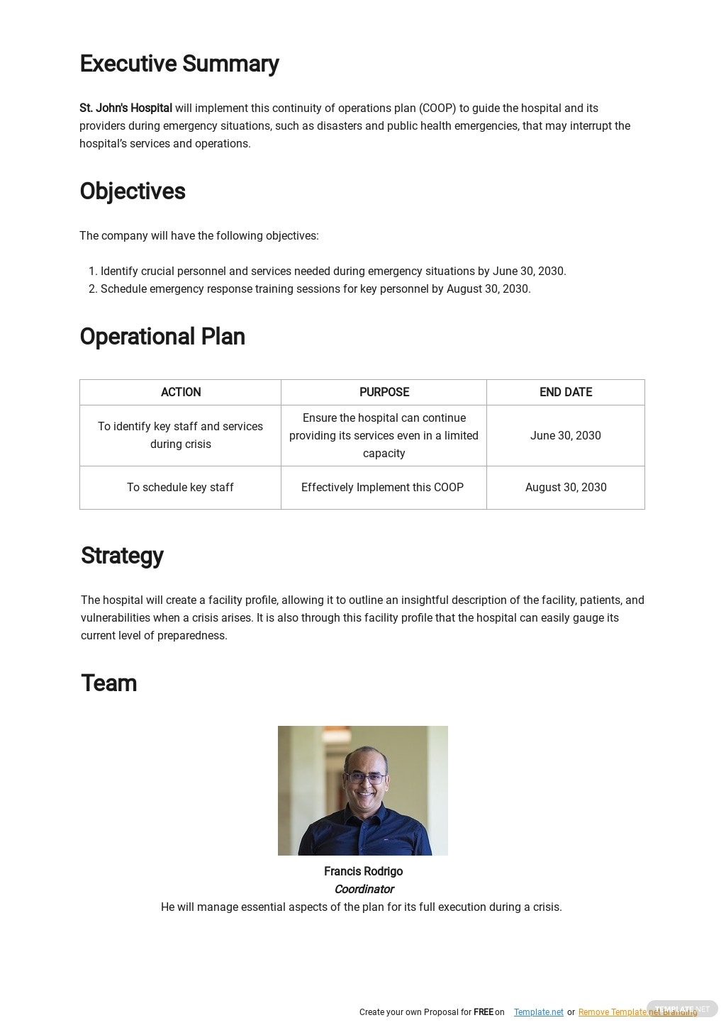 Hospital Continuity of Operations Plan Template 1.jpe