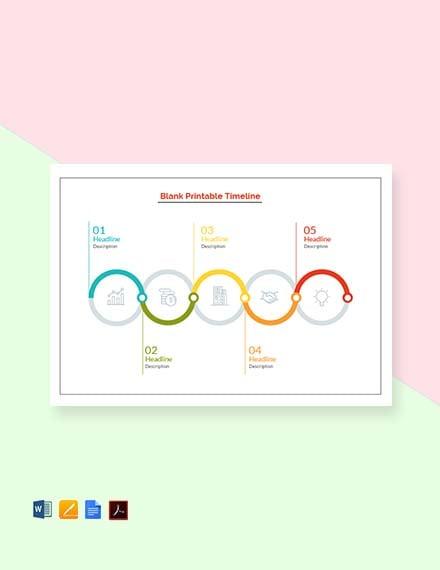 Blank Printable Timeline Template