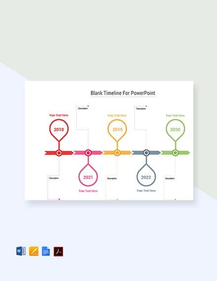 Free Blank Simple Timeline Template