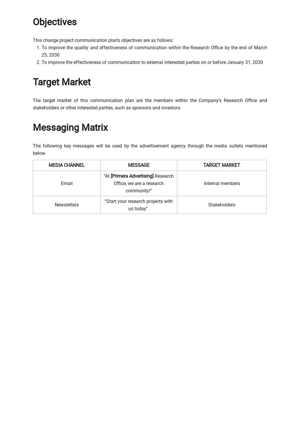 Research Project Communication Plan Template 1.jpe