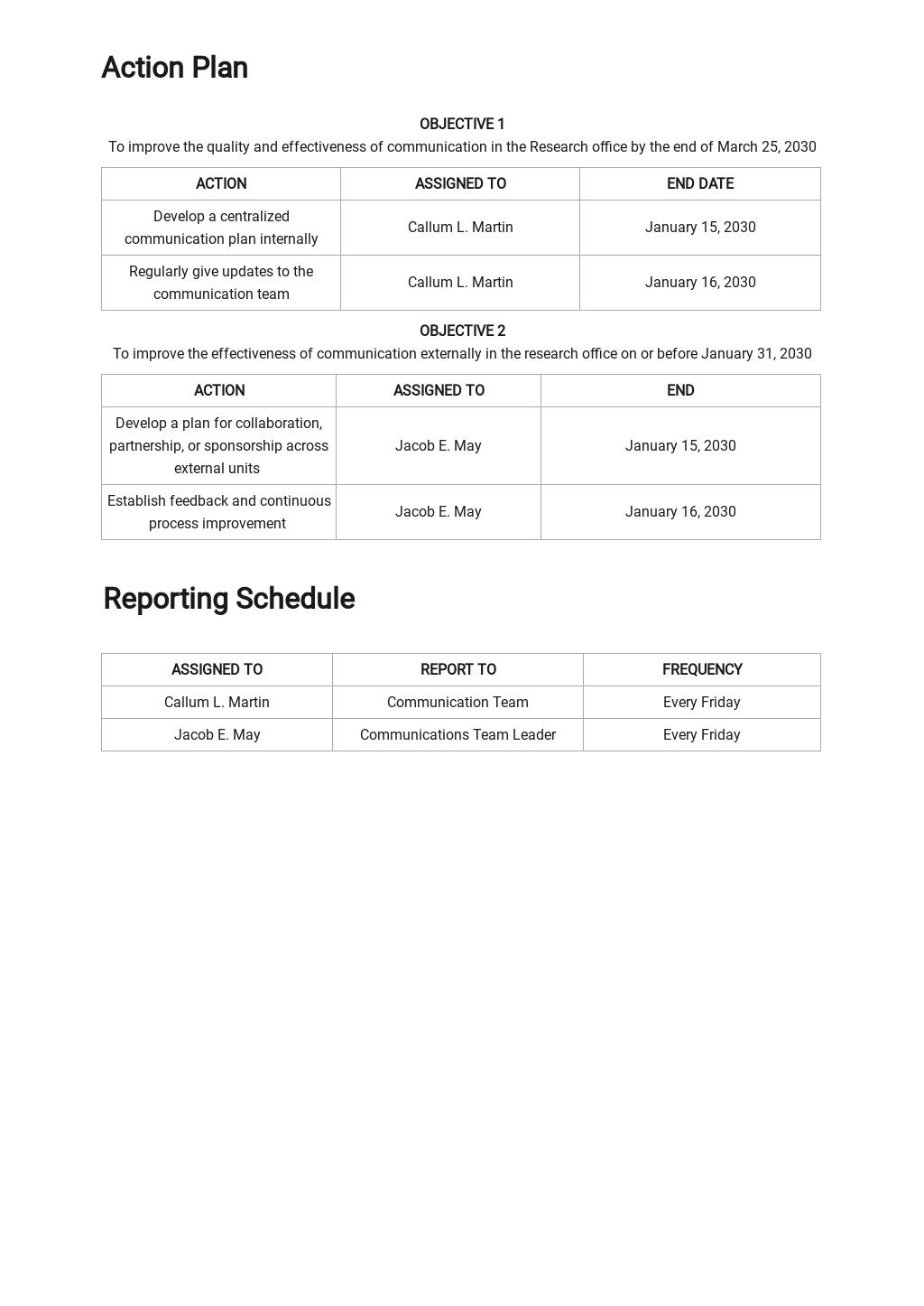 Research Project Communication Plan Template 3.jpe