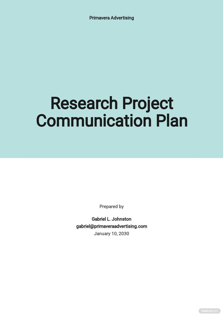 Research Project Communication Plan Template.jpe