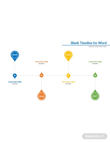 Free Blank Sample Timeline Template