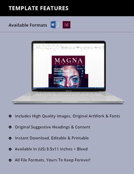 Creative Magazine Blogger Template Design