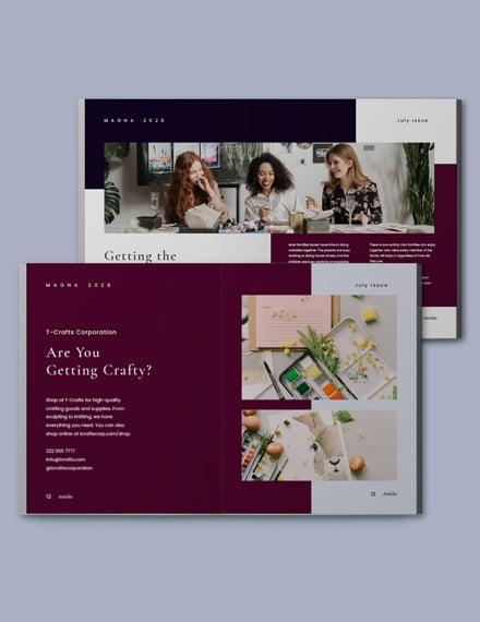 Creative Magazine Blogger Template Format