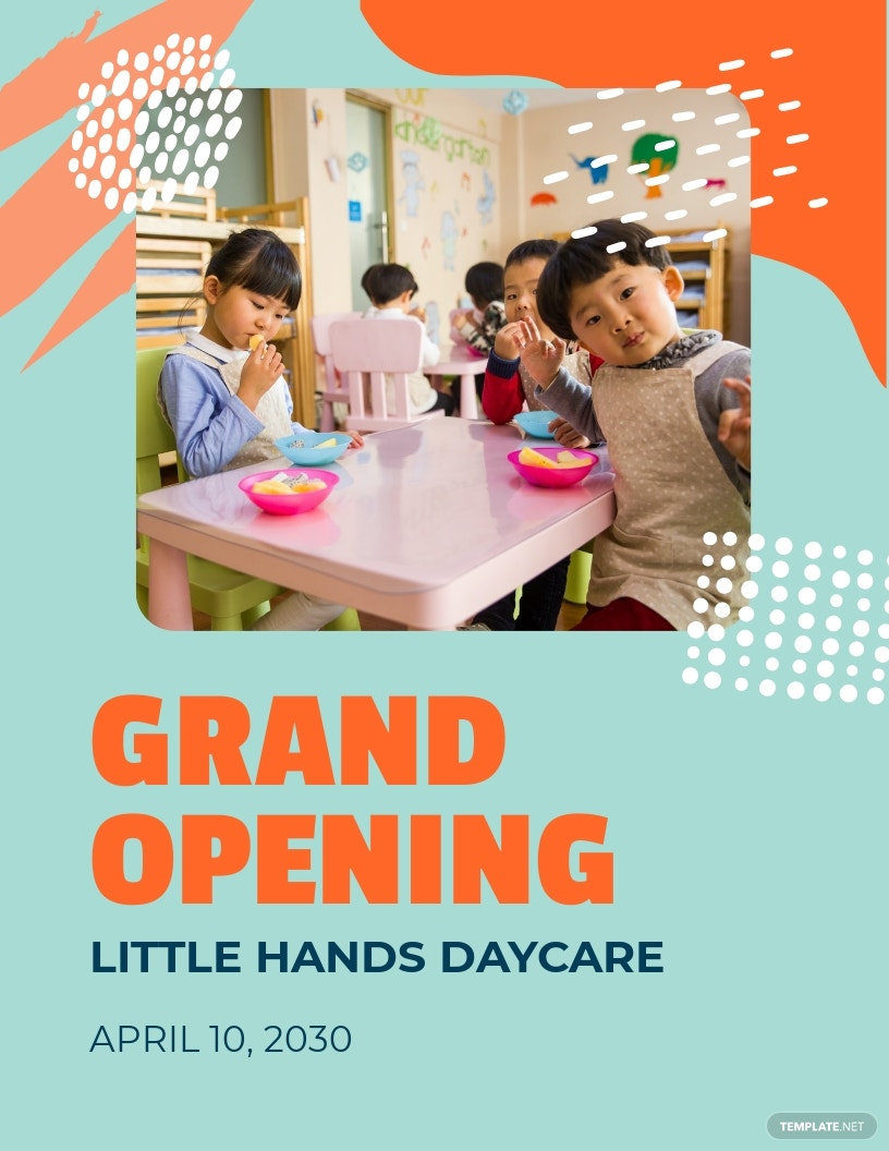 Day Care Opening Flyer Template