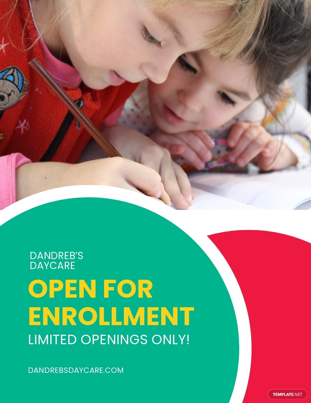 Daycare Enrolling Flyer Template