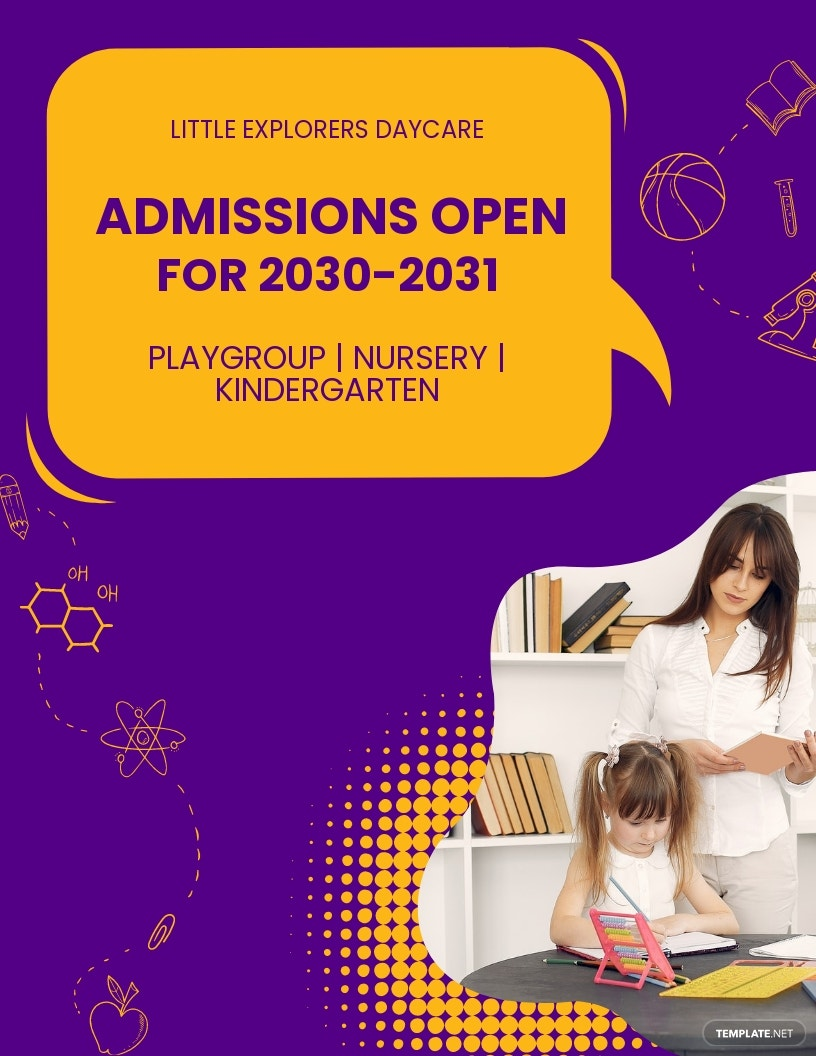 Daycare Admissions Open Flyer Template