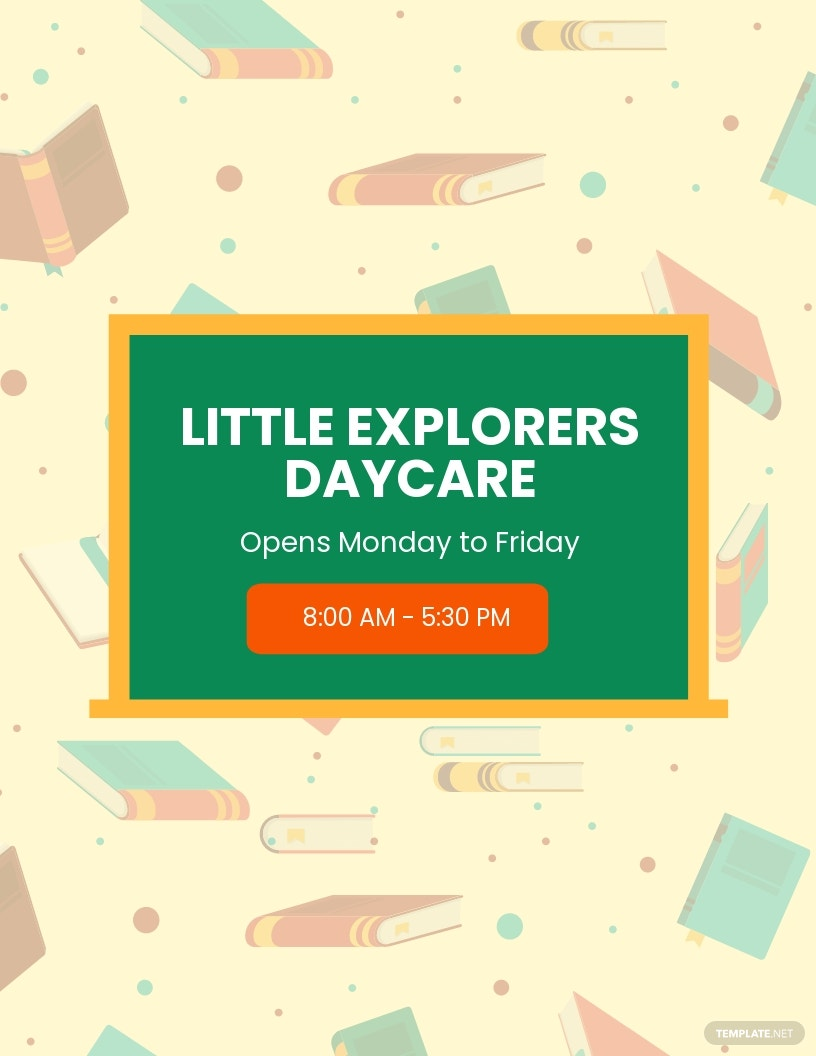 Daycare Open Day Flyer Template