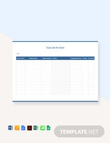 Free Simple Class List Template