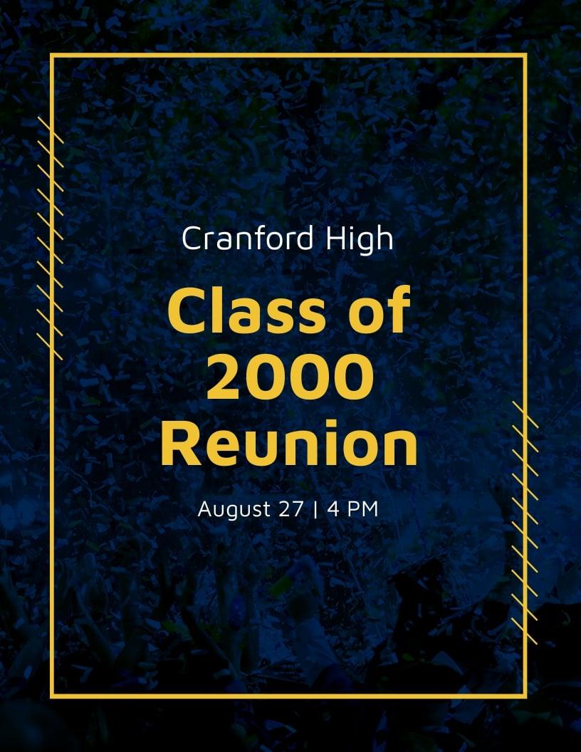 School Reunion Invitation Flyer Template