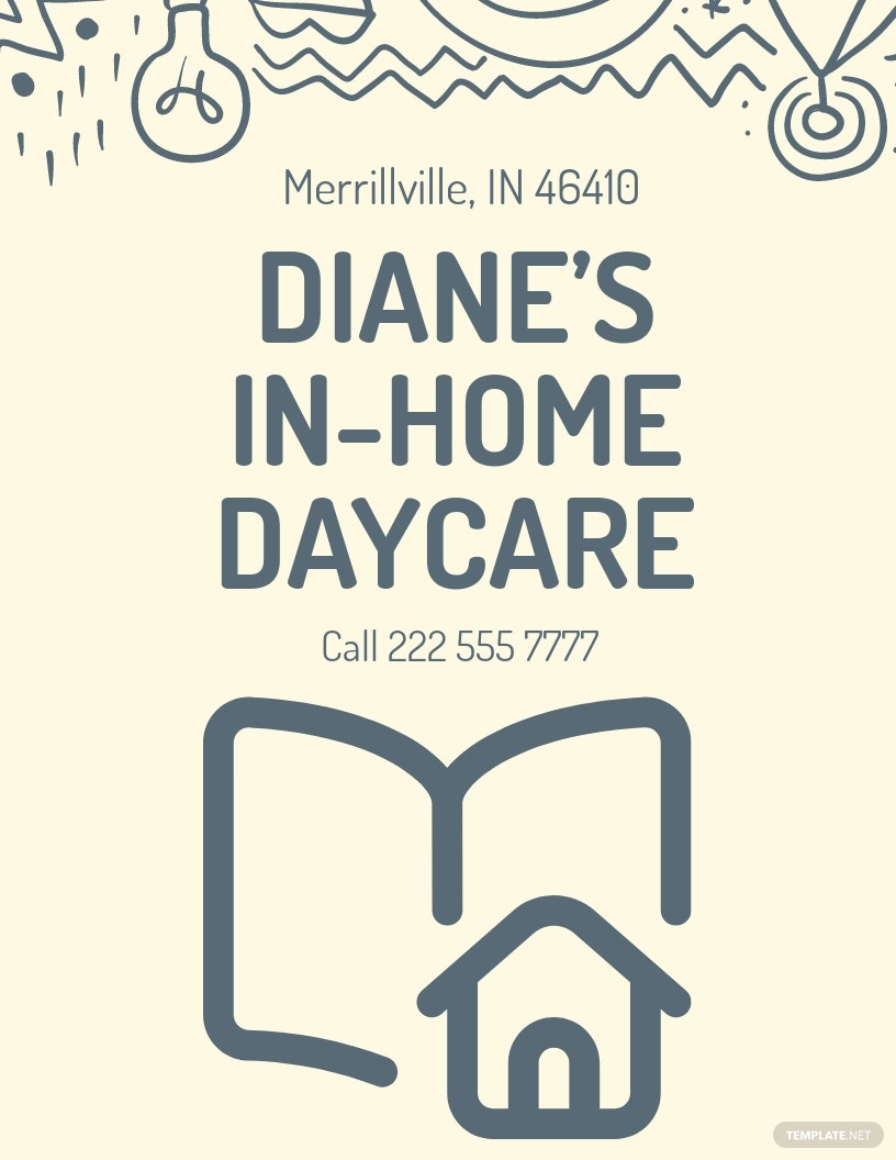 In Home Daycare Flyer Template