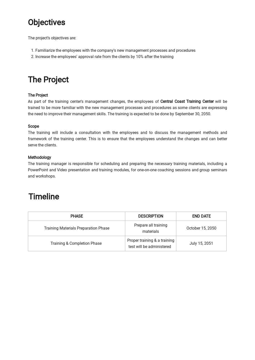 Sample Training Project Plan Template 1.jpe