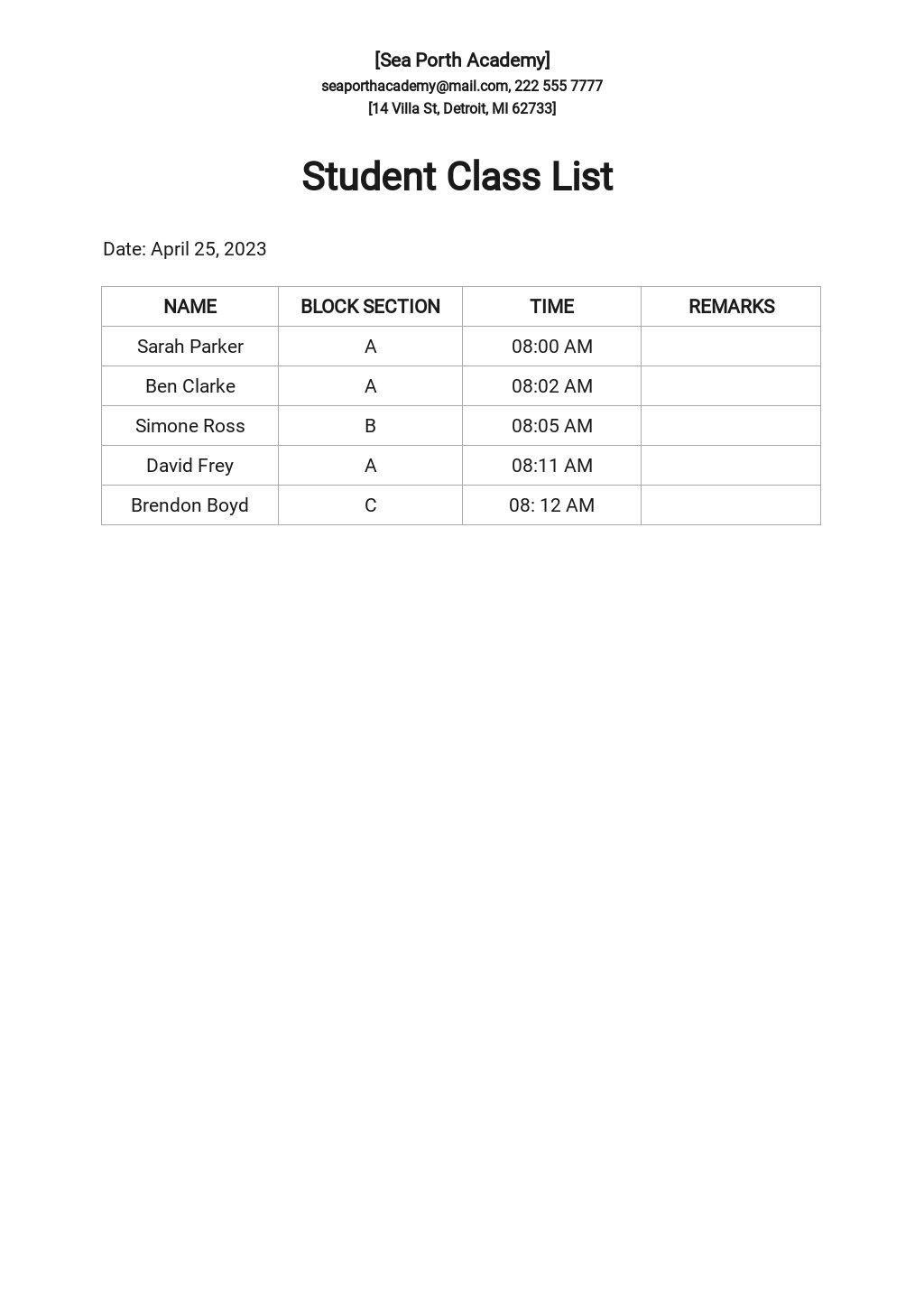 Student Class List Template.jpe