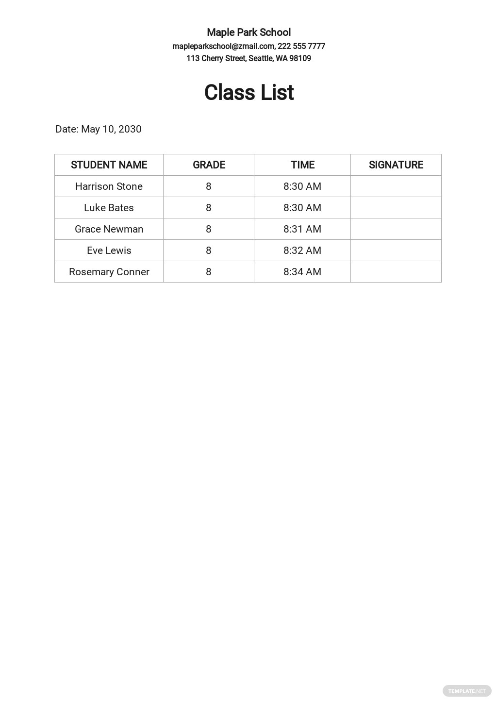 Class List Template For 30 Students.jpe