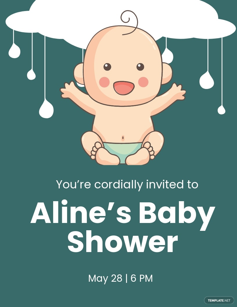 Baby Shower Invitation Flyer Template