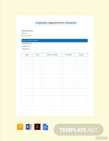 Free Employee Appointment Schedule Template