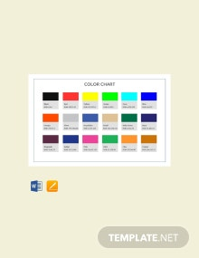 Free Color Chart Template