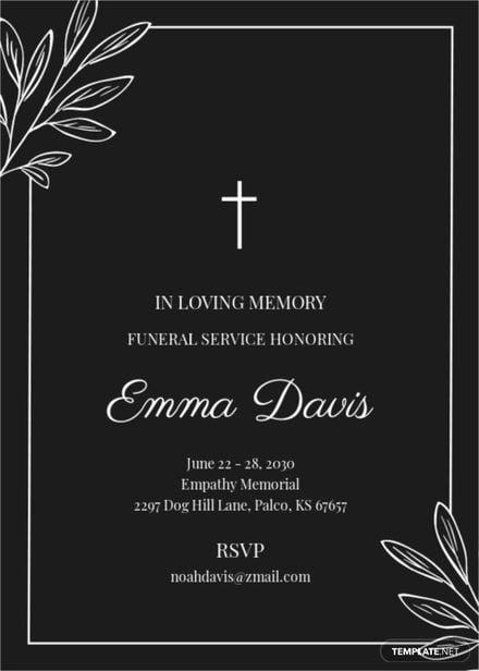 Simple Funeral Reception Invitation Template.jpe