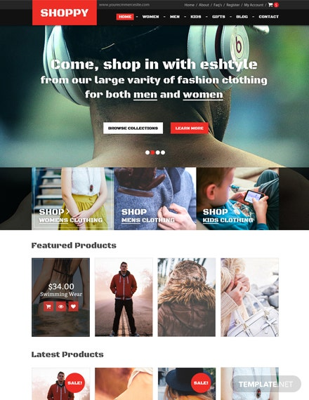 Fashion Boutique HTML5/CSS3 Website Template