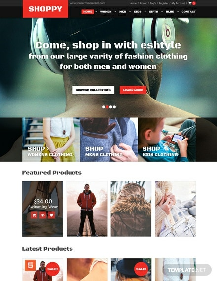 Free Fashion Boutique HTML5/CSS3 Website Template