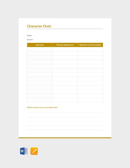 microsoft word chart templates