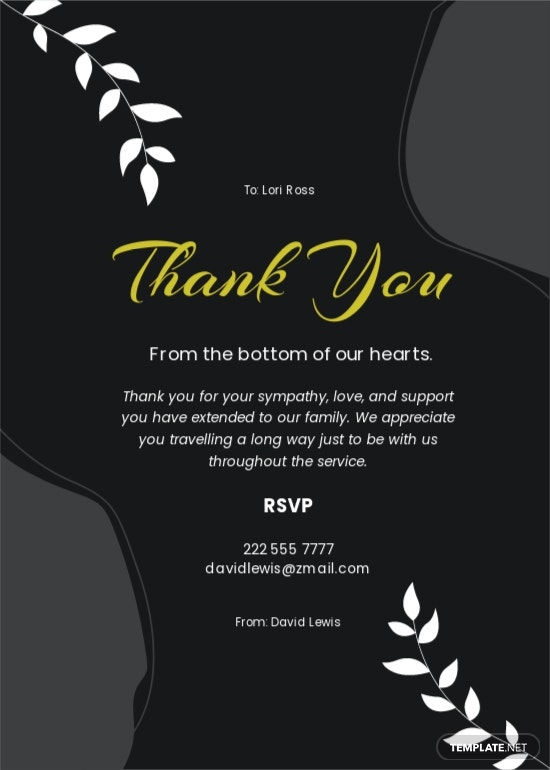 Sympathy Funeral Thank You Card Template.jpe