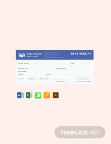Free Simple Apartment Rent Receipt Template