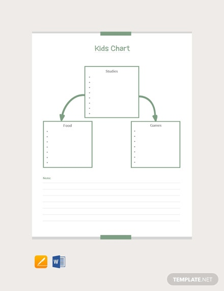 Free Kid's Chart Template