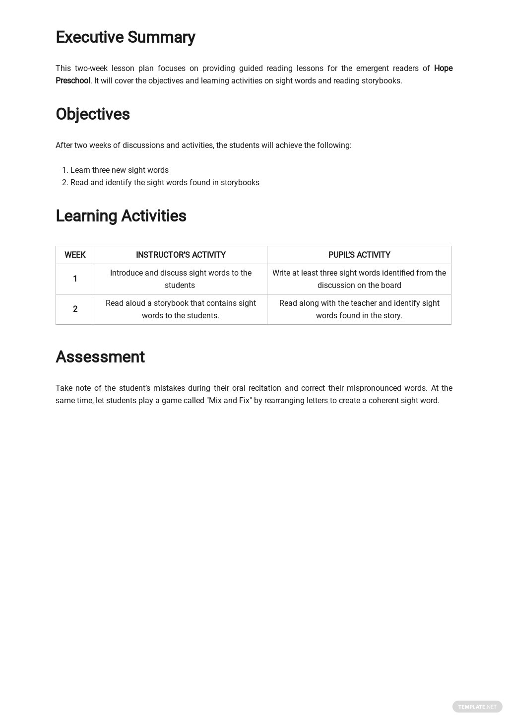 Simple Guided Reading Lesson Plan Template 1.jpe