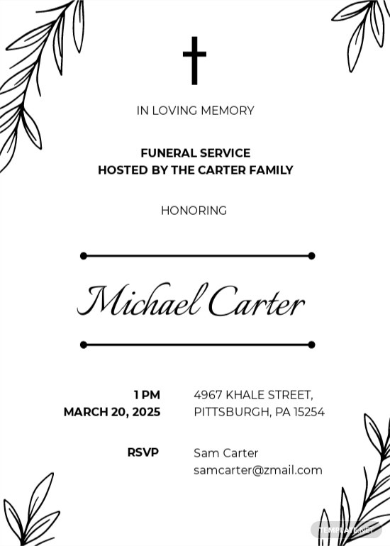 Email Funeral Service Invitation Template.jpe