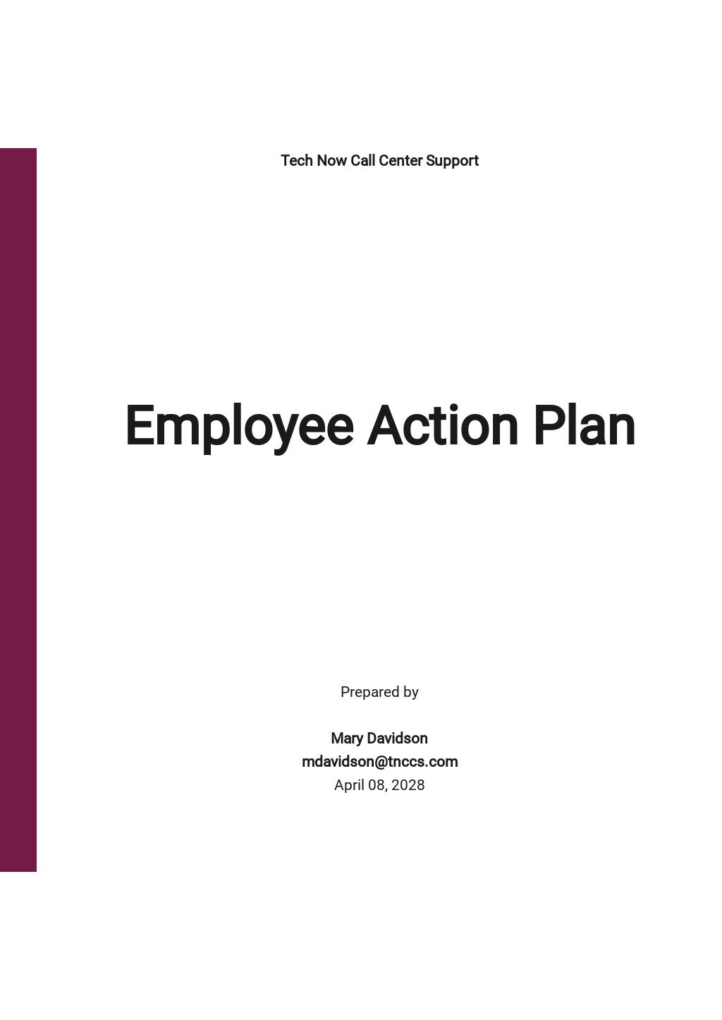 Sample Employee Action Plan Template.jpe