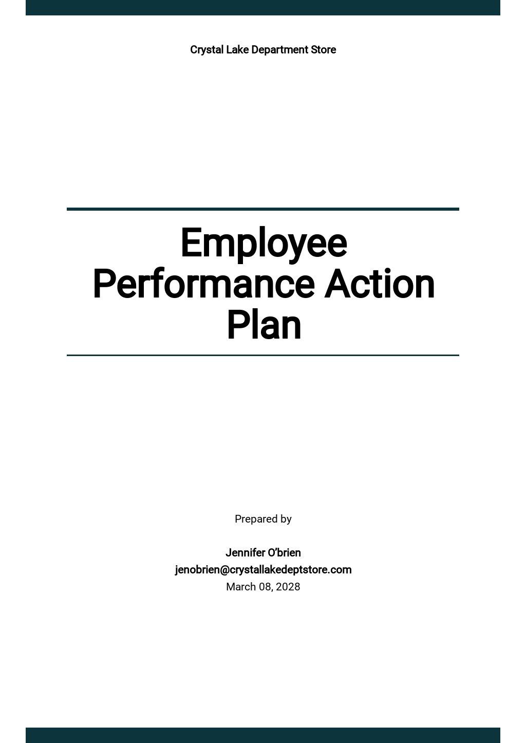 Employee Performance Action Plan Template.jpe