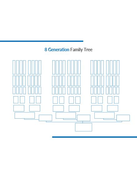 8 Generation Family Tree Template
