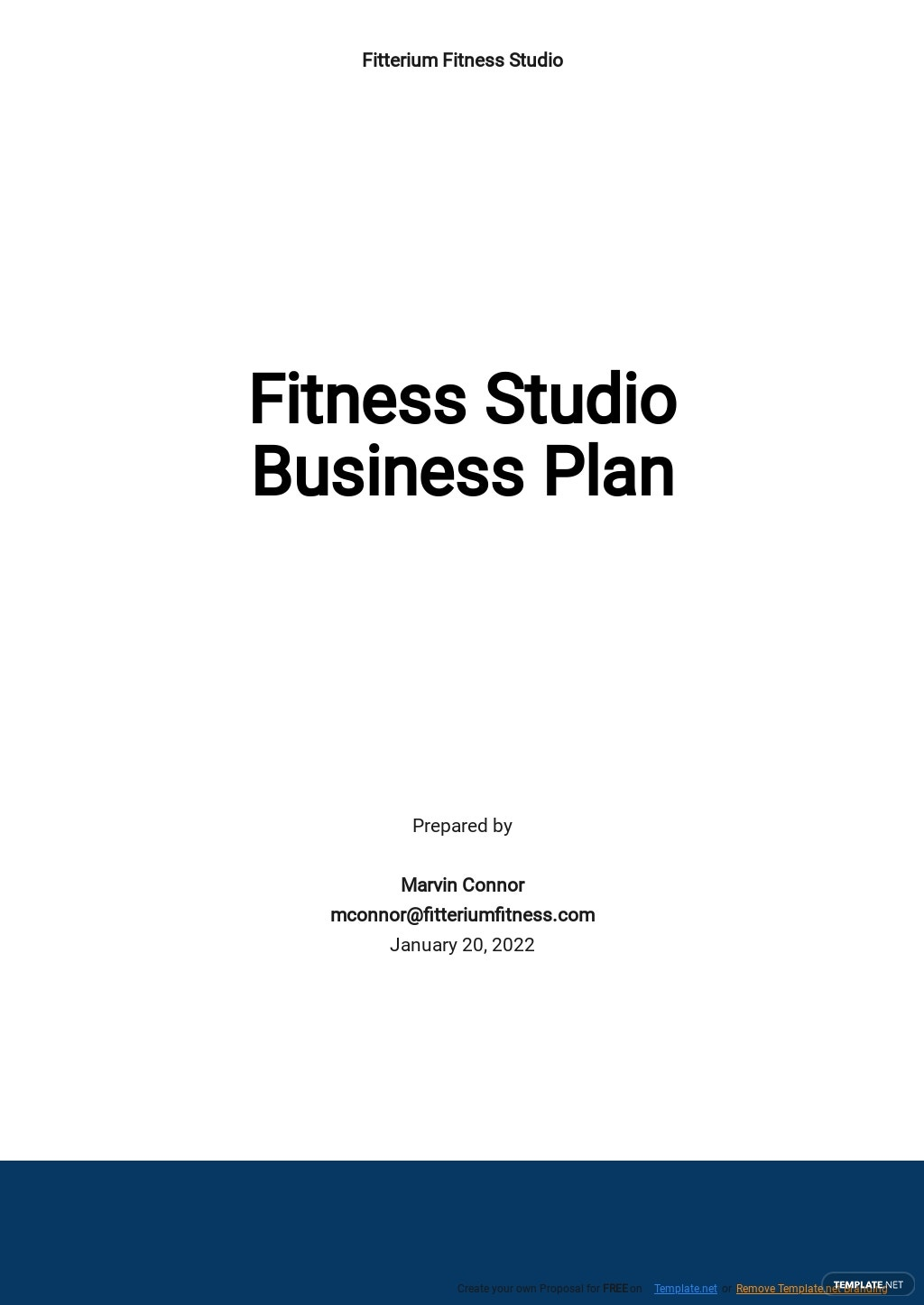 Fitness Studio Business Plan Template.jpe