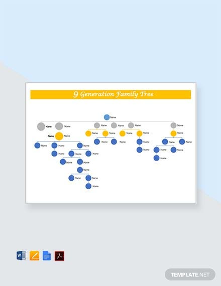 Free 9 Generation Family Tree Template