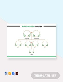 Free Blank 3 Generation Family Tree Template